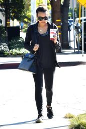 Naya Rivera Casual Style - Leaves Nine Zero Salon in West Hollywood, January 2016