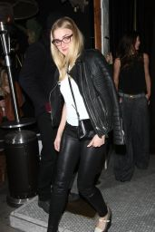 AJ Michalka Night Out Style - Goes To The Nice Guy Club in Los Angeles, January 2016