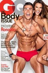 Alessandra Ambrosio and Cristiano Ronaldo - GQ Magazine February 2016 Cover and Pics