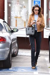 Alessandra Ambrosio Casual Style - Shopping in Brentwood 1/14/2016