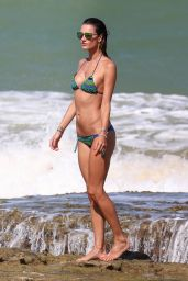 Alessandra Ambrosio in a Bikini - Beach in Brazil, January 2016