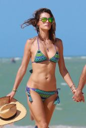 Alessandra Ambrosio in a Bikini - Beach in Brazil, January 2016