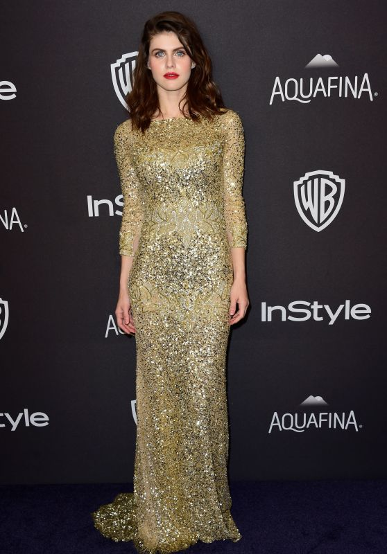 Alexandra Daddario - InStyle And Warner Bros. Golden Globe Awards 2016 Post-Party in Beverly Hills