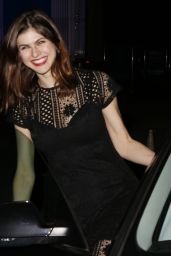Alexandra Daddario - Leaving the BOA Steakhouse in West Hollywood 1/8/2016