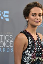 Alicia Vikander – 2016 Critics' Choice Awards in Santa Monica