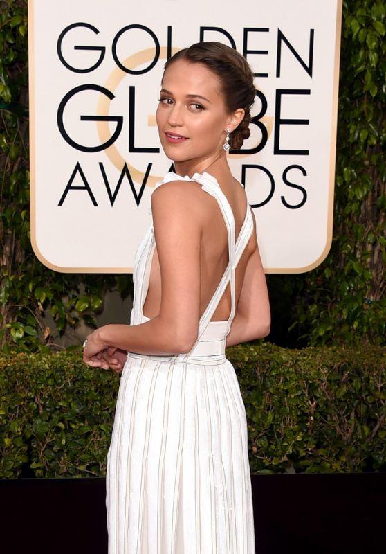 Alicia Vikander – 2016 Golden Globe Awards in Beverly Hills