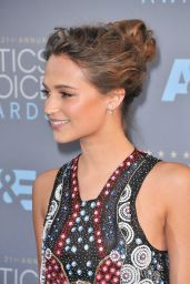 Alicia Vikander on Red Carpet – 2016 Critics' Choice Awards in Santa Monica Part II