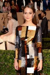 Alicia Vikander – SAG Awards 2016 at Shrine Auditorium in Los Angeles