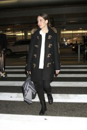 Alison Brie Airport Style - LAX in Los Angeles 1/25/2016