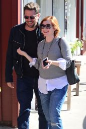 Alyson Hannigan Street Style - Leaving Caffe Luxxe in Brentwood 1/25/2016