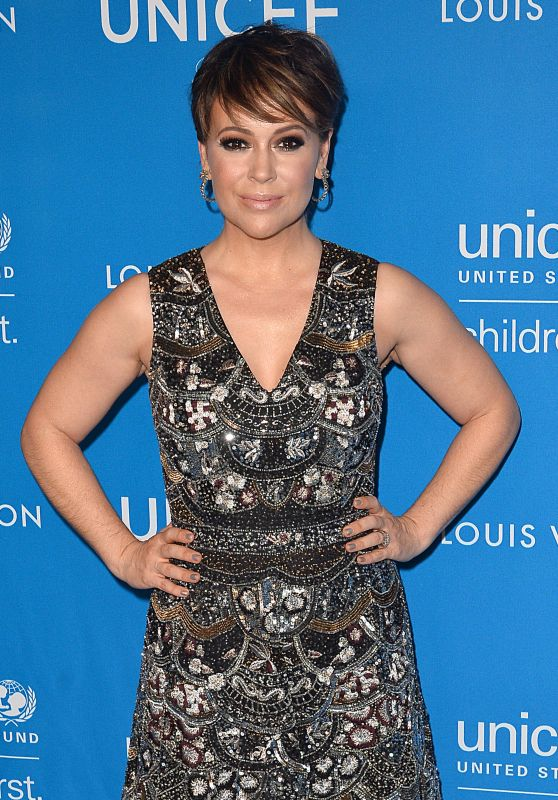 Alyssa Milano – 6th Biennial UNICEF Ball in Beverly Hills 1/12/2016