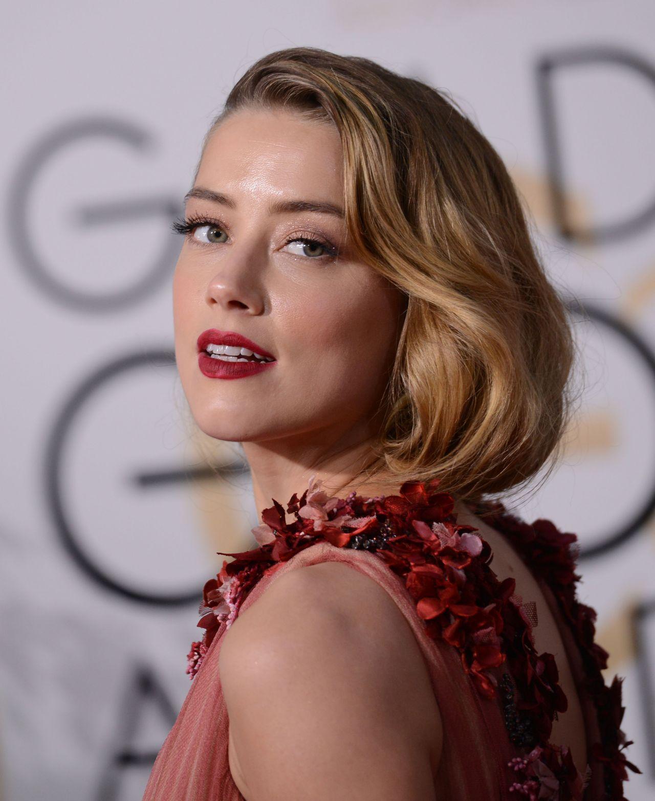 Amber Heard: 2016 Golden Globe Awards In Beverly Hills