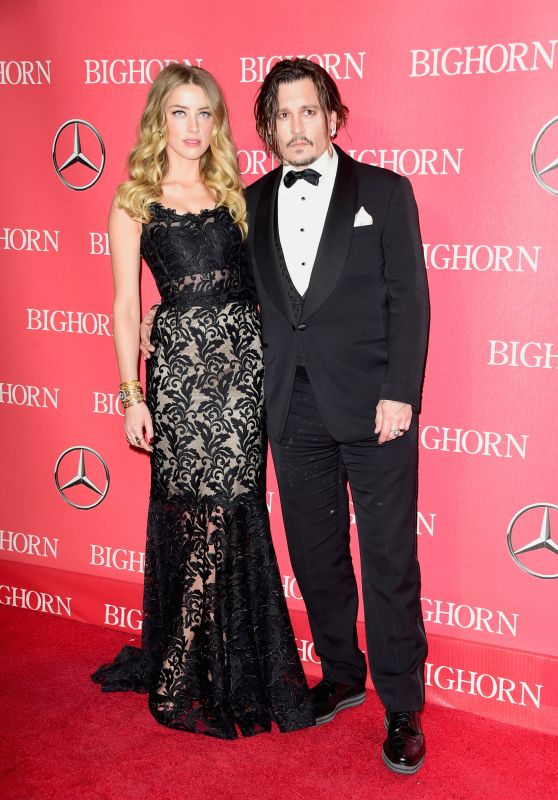 Amber Heard and Johnny Depp – 2016 Palm Springs International Film Festival Awards Gala