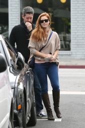 Amy Adams in Knee Boots and Jeans - Out in LA 1/15/2016