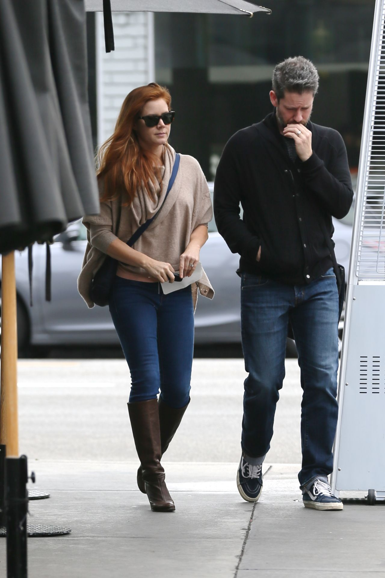 Amy Adams In Knee Boots And Jeans Out In La 1 15 2016