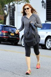 Amy Adams in Leggings - Out in Los Angeles 1/7/2016