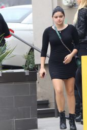 Ariel Winter in Black Mini Dress - Leaving a Starbucks in Beverly Hills 1/23/2016