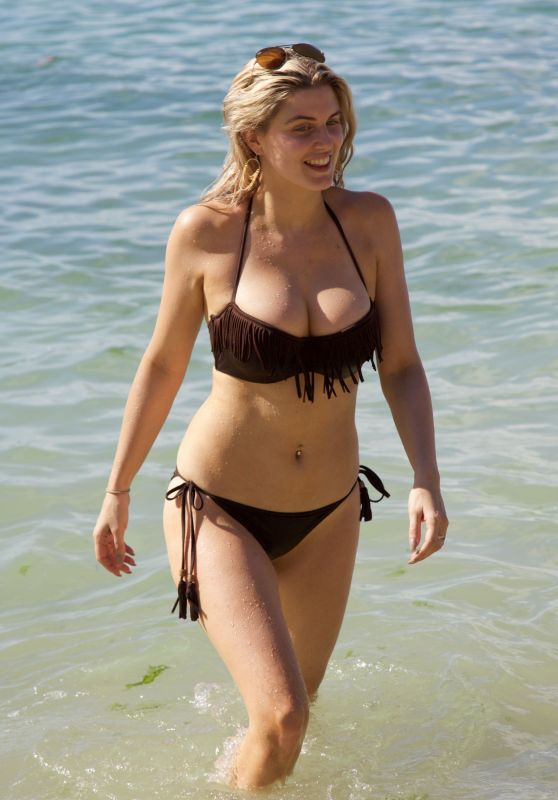 Ashley James Hot in Bikini - Beach in Bali, January 2016