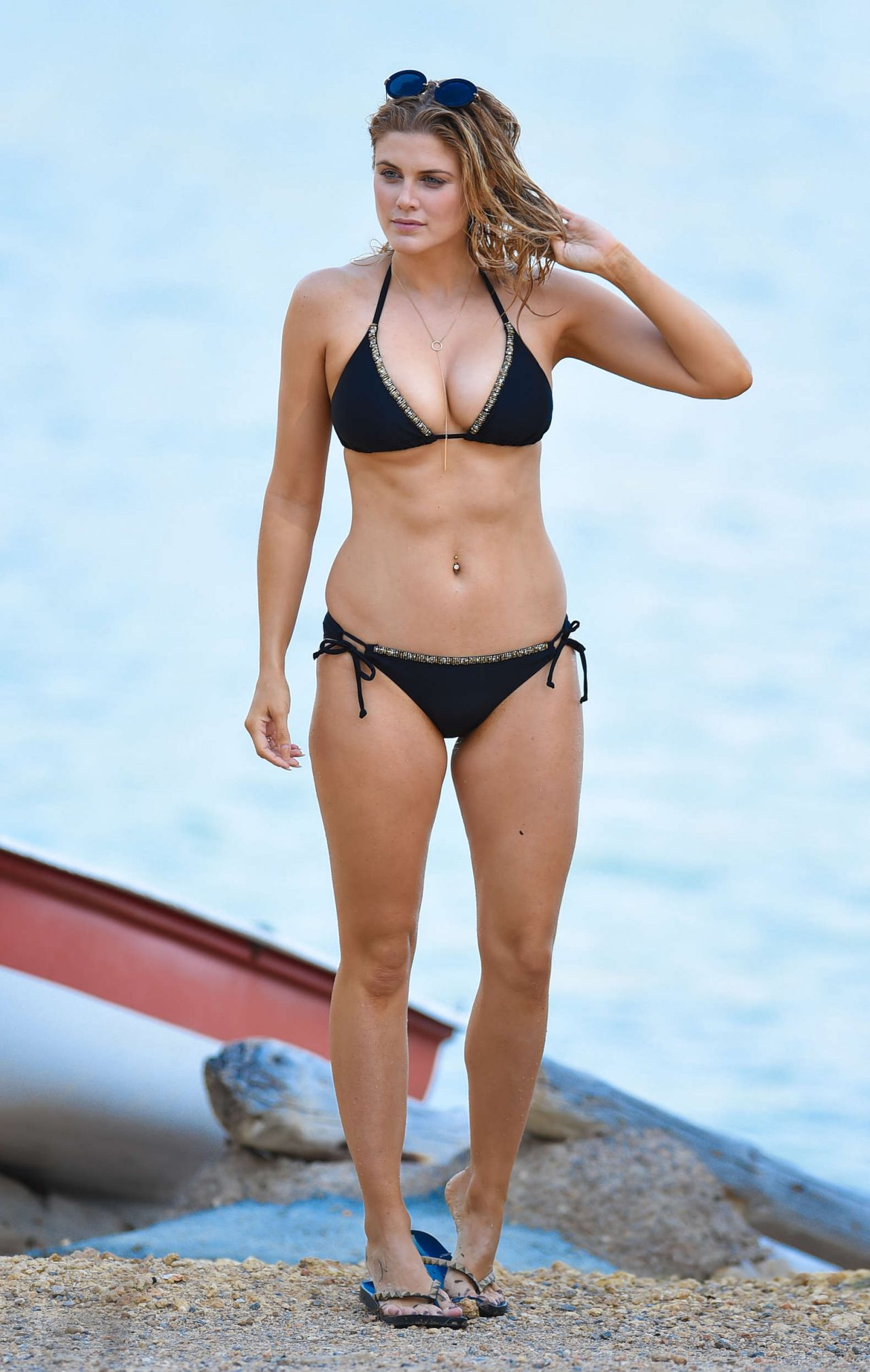 Ashley James In Black Bikini At A Beach In Bali 122016-4032
