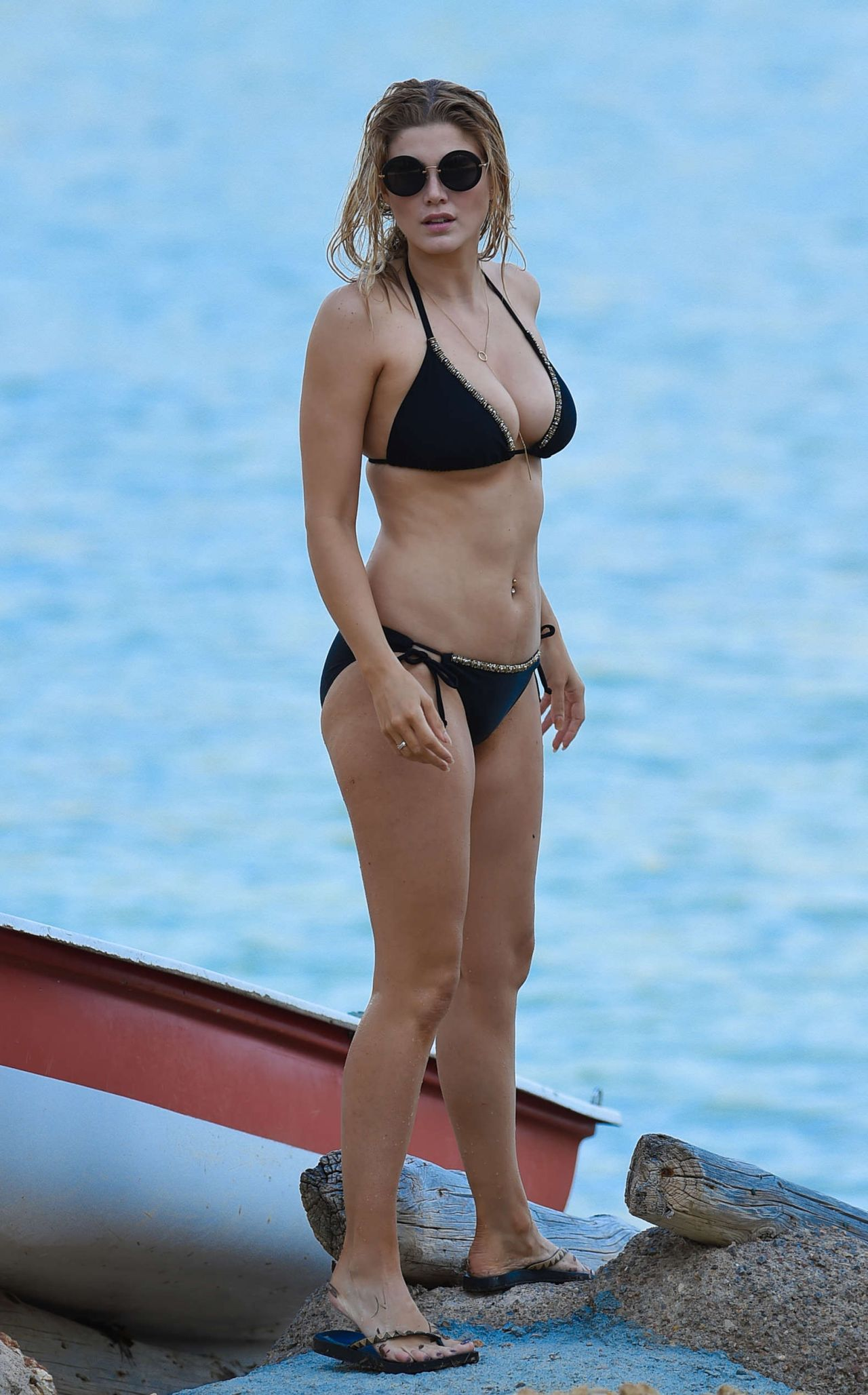 Ashley James In Black Bikini At A Beach In Bali 1 2 2016
