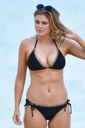 Ashley James in Black Bikini at a Beach in Bali 1/2/2016