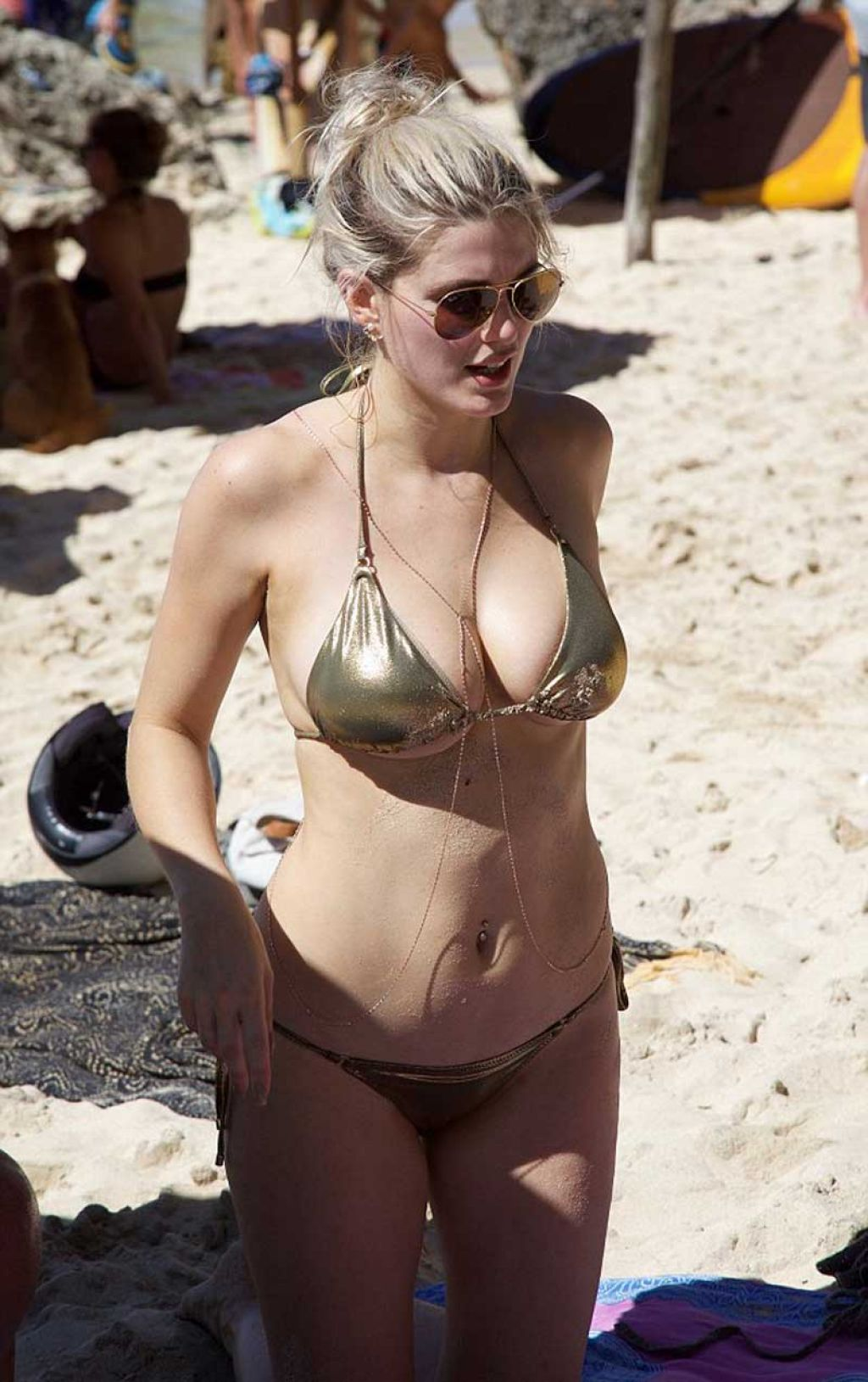 James in Gold Bikini in Bali 1/9/2016
