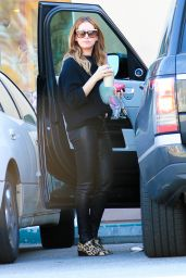 Ashley Tisdale in Skinny Leg Leather Pants - Out in Studio City 1/13/2016
