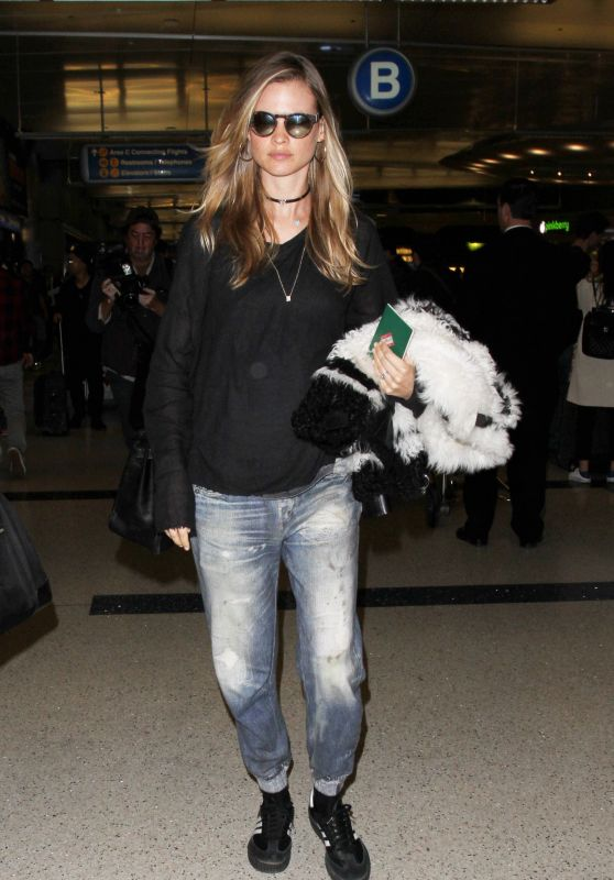 Behati Prinsloo Airport Style - LAX in Los Angeles 1/26/2016