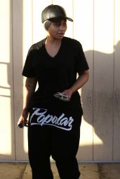 Black Chyna - Leaving the Salon in Los Angeles, January 28, 2016