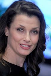 Bridget Moynahan at the New York Stock Exchange on Wall Street in New York City, January 2016