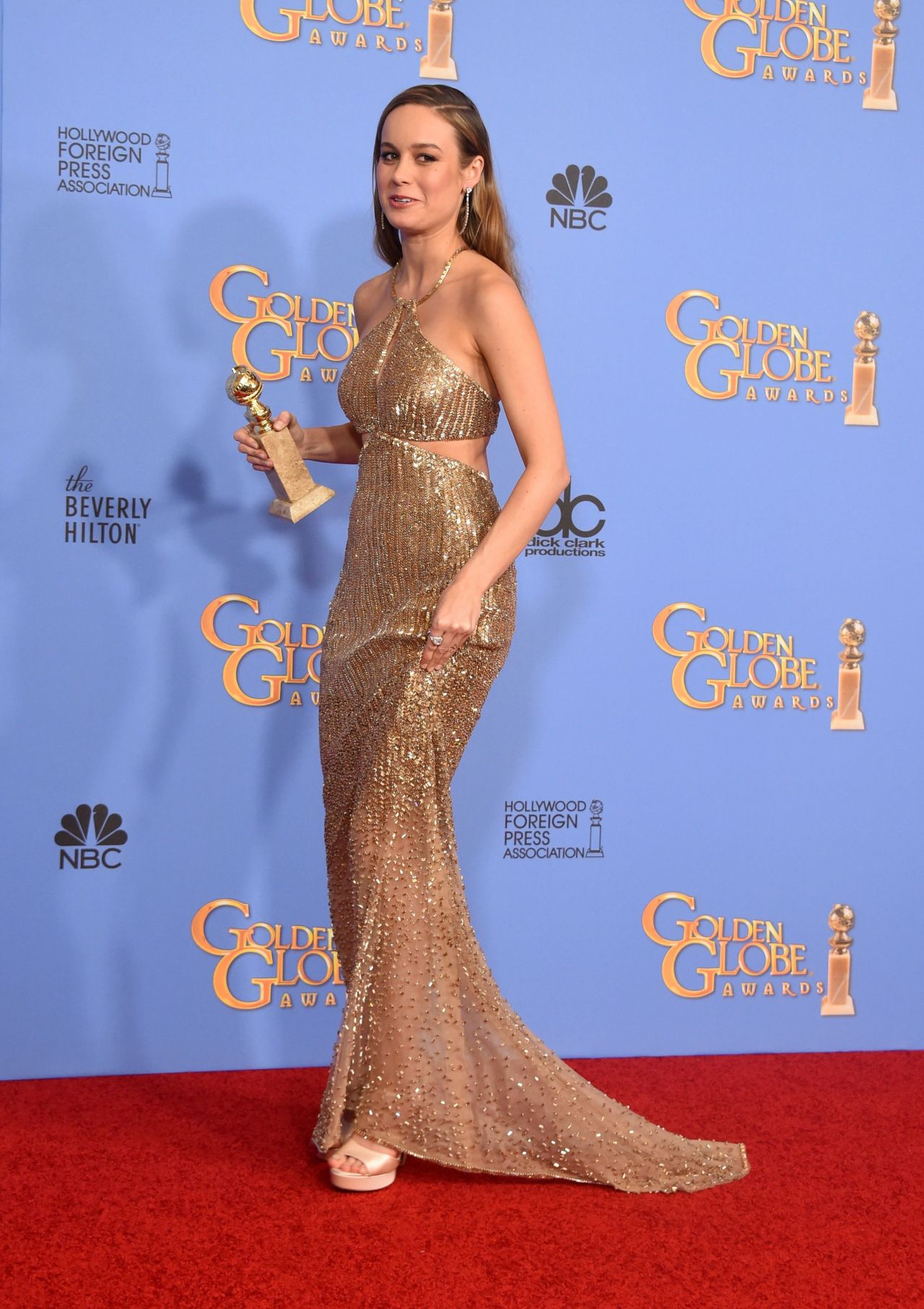 Brie Larson 2016 Golden Globe Awards In Beverly Hills