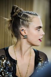 Cara Delevingne - Chanel Haute Couture Spring Summer 2016 Fashion Show in Paris