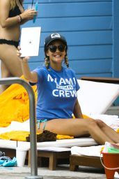 Caroline Flack in Bikini -  Poolside Miami 1/2/2016