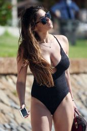 Casey Batchelor in Black Swimsuit - Tennerife 12/31/2015