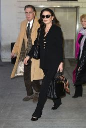 Catherine Zeta-Jones at JFK Airport in NYC, January 2016