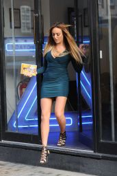 Charlotte Crosby Hot in Mini Dress – Promoting Her Fitness DVD in London 1/4/2016