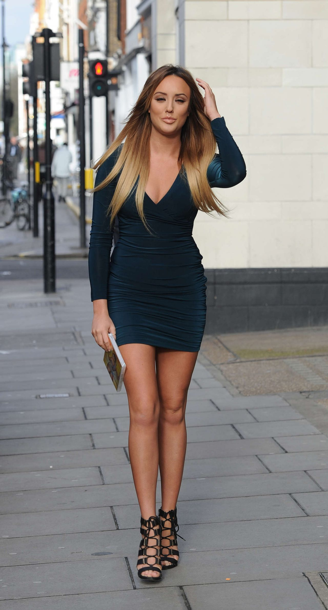 charlotte crosby hot in mini dress � promoting her fitness