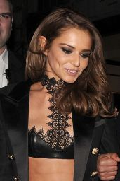 Cheryl Fernandez-Versini Night Out Style - Kimberley Walsh's Party at Cuckoo Club in London 1/16/2016