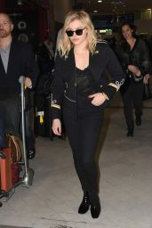 Chloe Grace Moretz - Charles de Gaulle Airport in Paris 1/18/2016