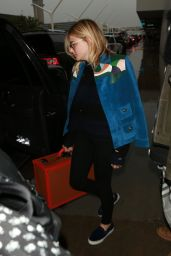 Chloe Moretz Airport Style - at LAX in Los Angeles, January 2016
