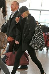 Chloe Moretz Airport Style - Heathrow Airport in London 1/22/2016