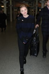 Chloe Moretz - at St. Pancras Station in London, January 2016