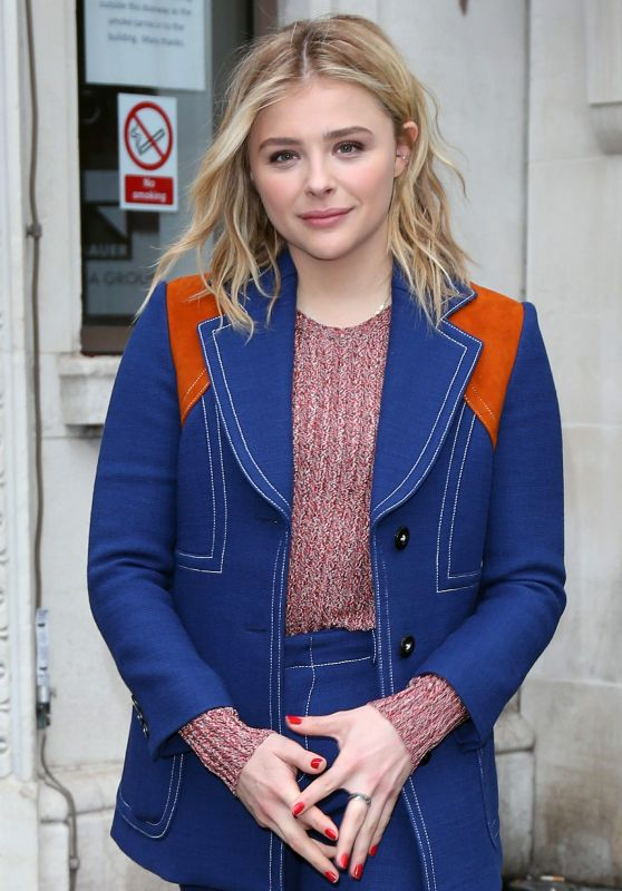 Chloe Moretz - Leaves Bauer Media Radio Studios in London, January 2016
