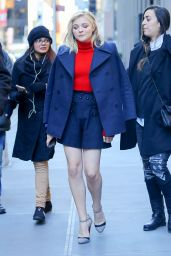 Chloe Moretz Leggy in Mini Skirt - Leaving SiriusXM Radio Studios in New York City, 1/5/2016