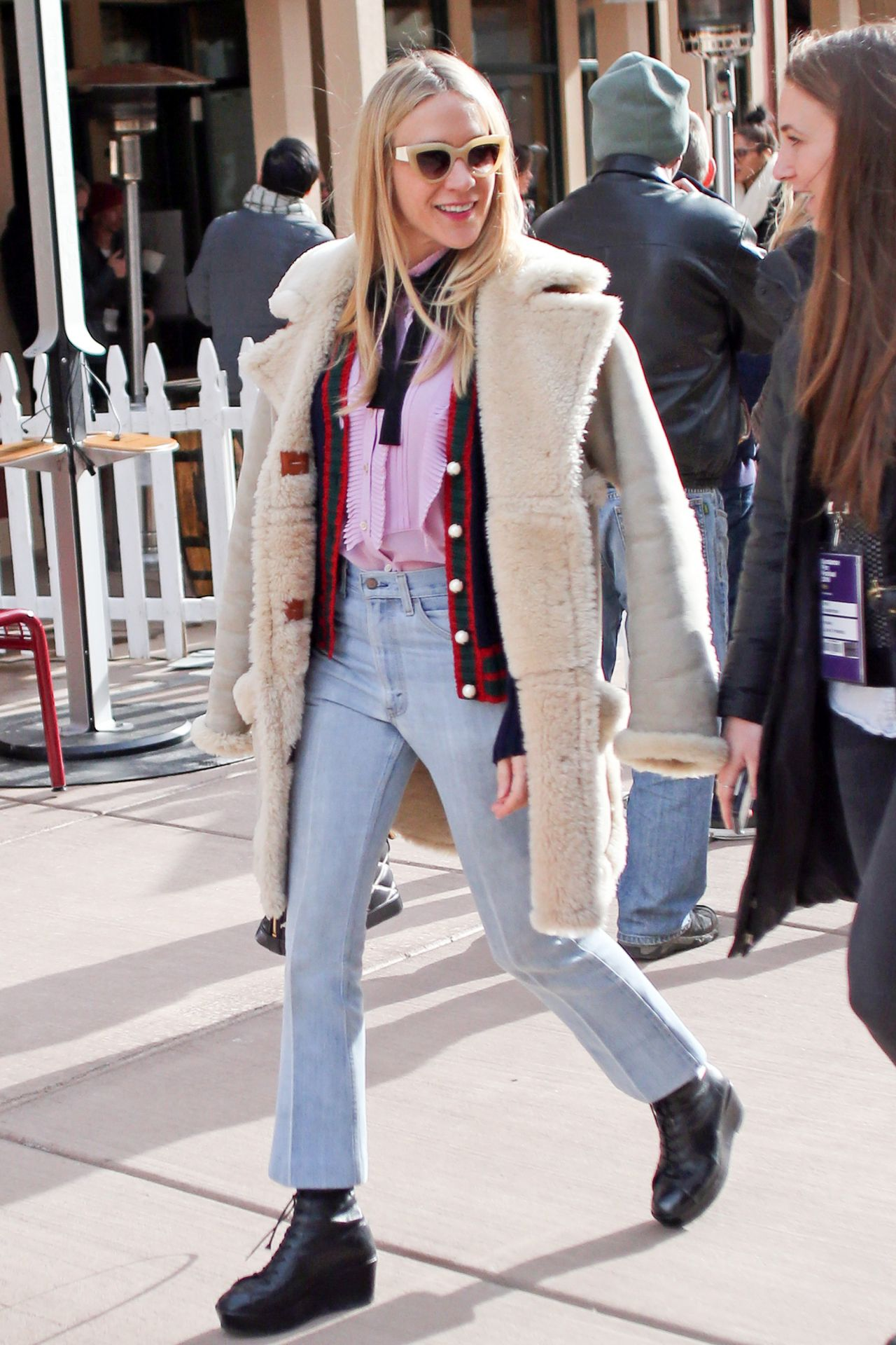 Chloe Sevigny Casual Style Out In Park City January 2016