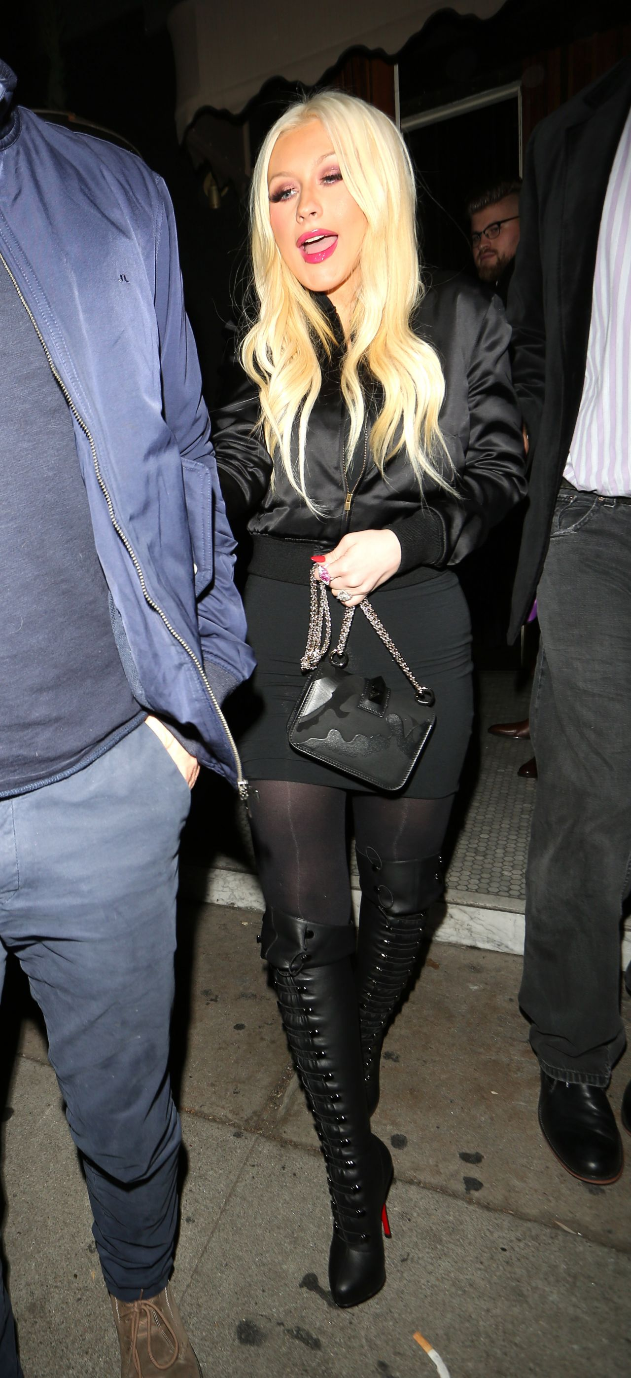 Christina Aguilera Night Out Style Leaving The Nice Guy