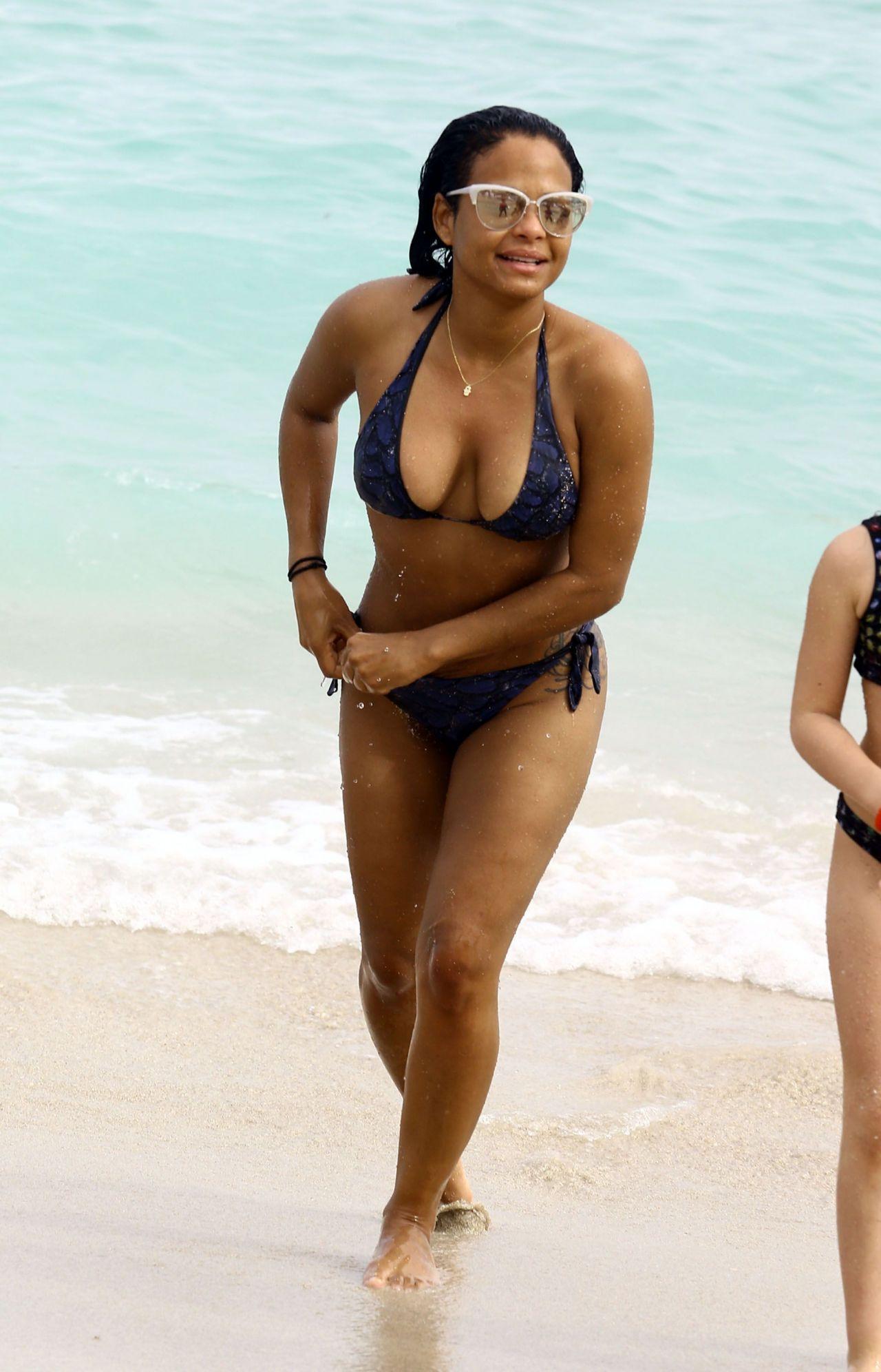 Christina milian sexy beach bikini selfie vid 4