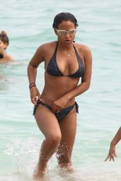Christina Milian Hot in a Bikini at a Beach in Miami 01/03/2016