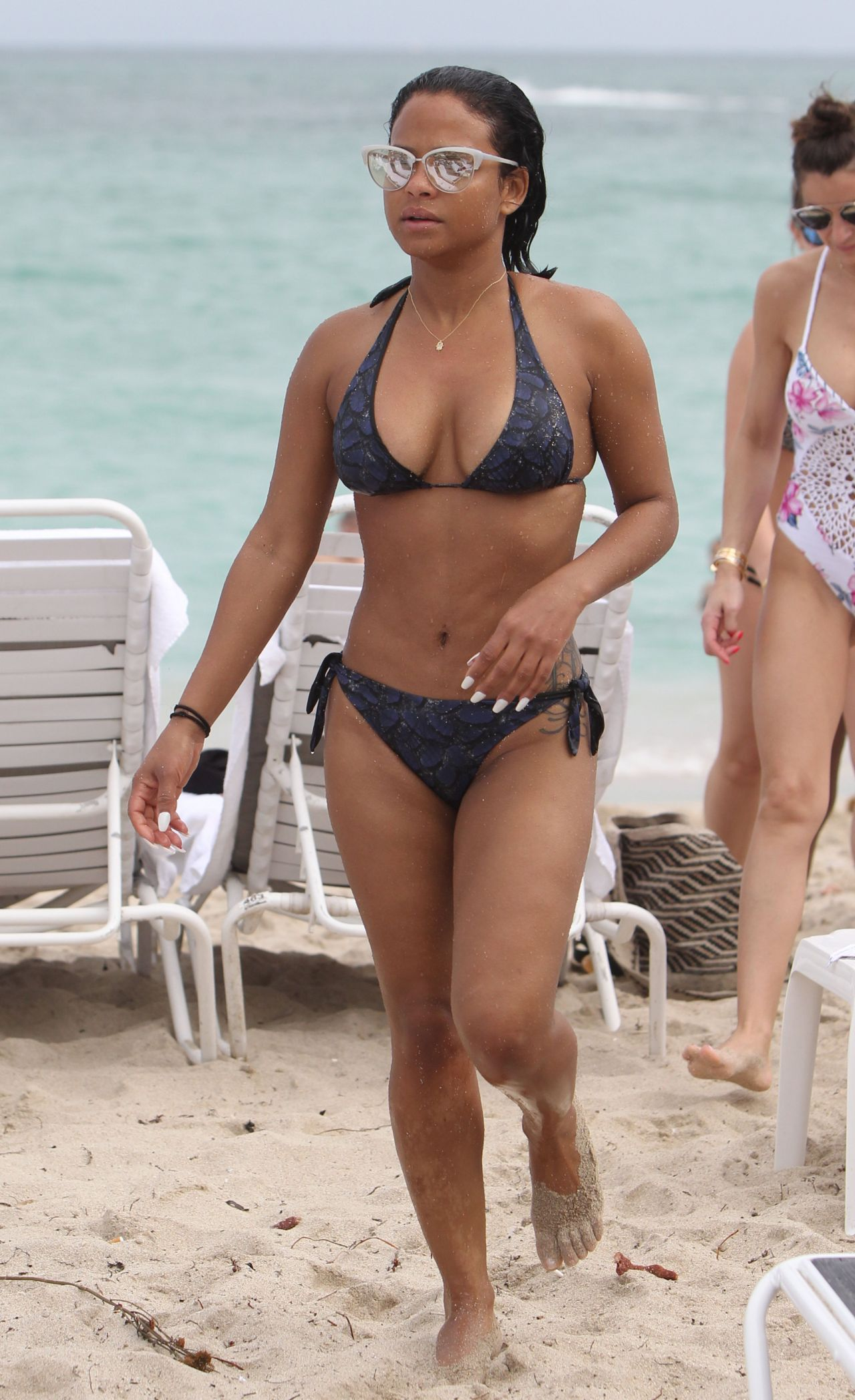 Christina milian on beach in miami