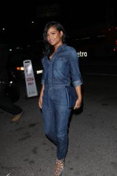 Christina Milian in Jeans Jumpsuit - Leaving Nice Guy in West Hollywood 1/13/2016